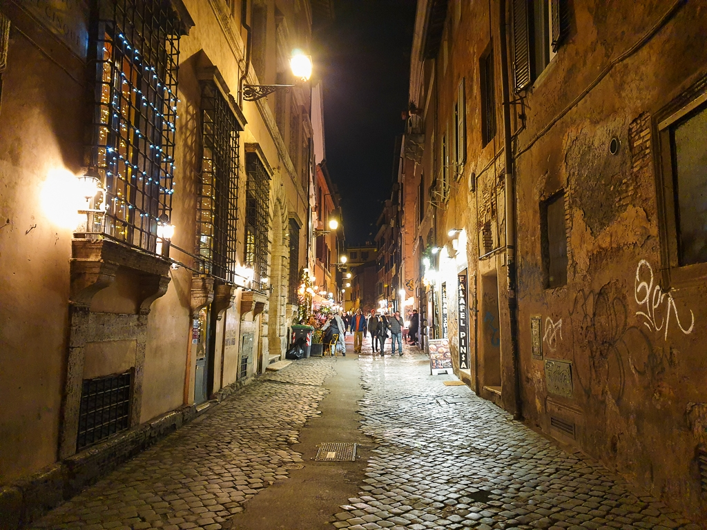 Ruelle dans Trastevere à Rome