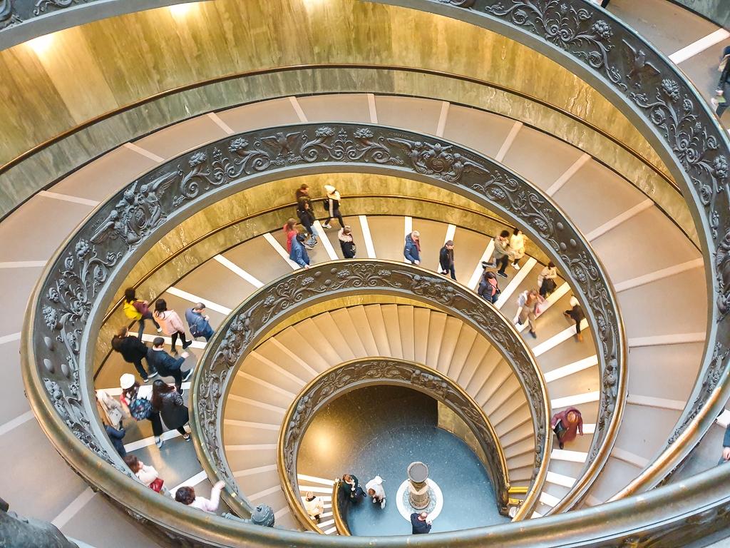 L'escalier de Bramante à Rome