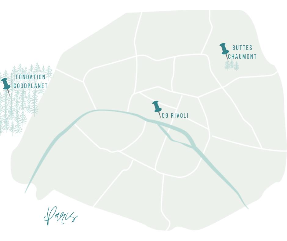 carte 3 endroits insolites à Paris