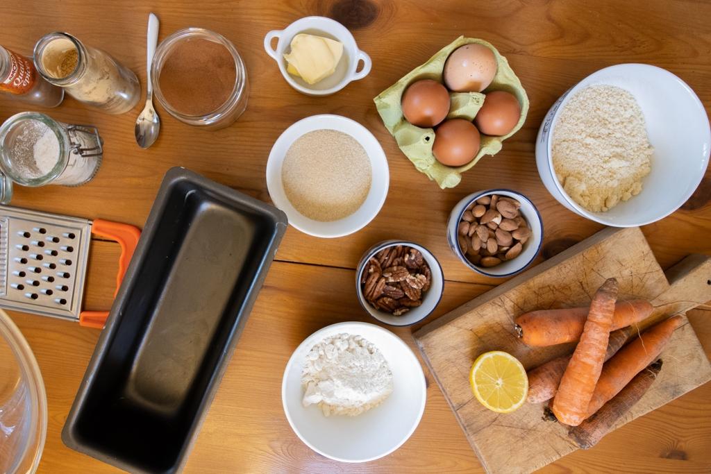 Ingrédients carrot cake