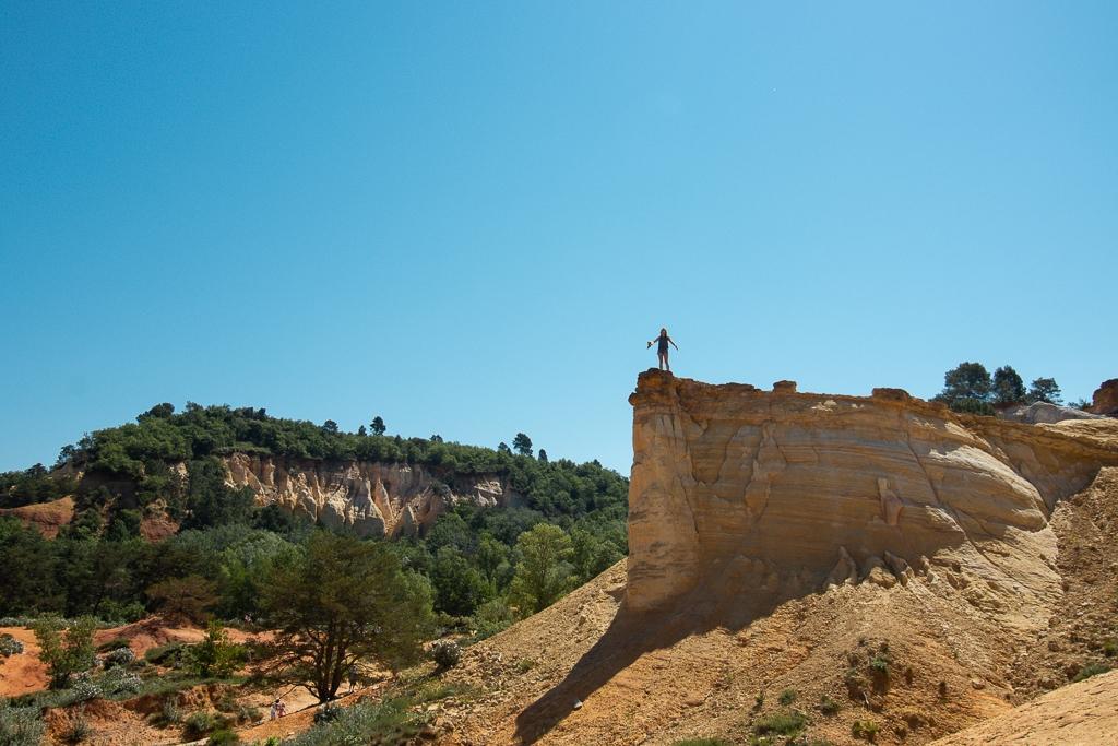 Falaise au Colorado Provençal de Rustrel
