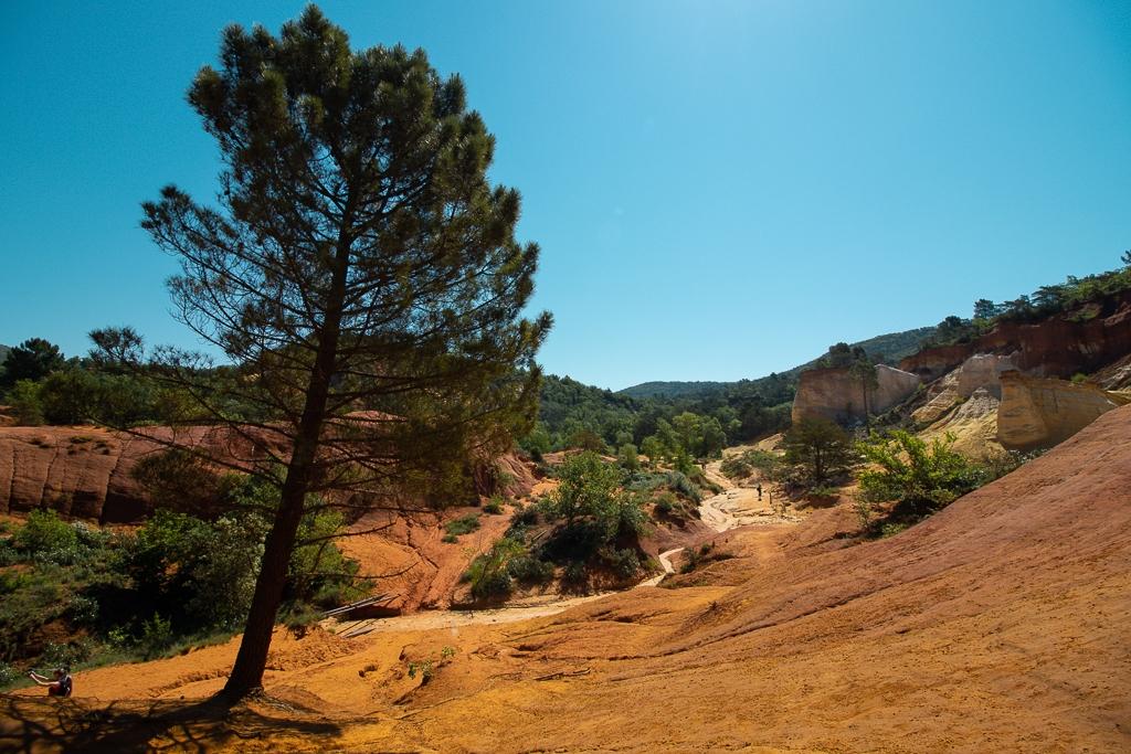 Colorado Provencal de Rustrel : le paysage