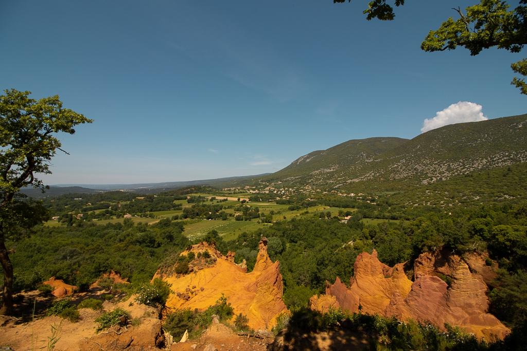 Colorado Provencal de Rustrel : le panorama