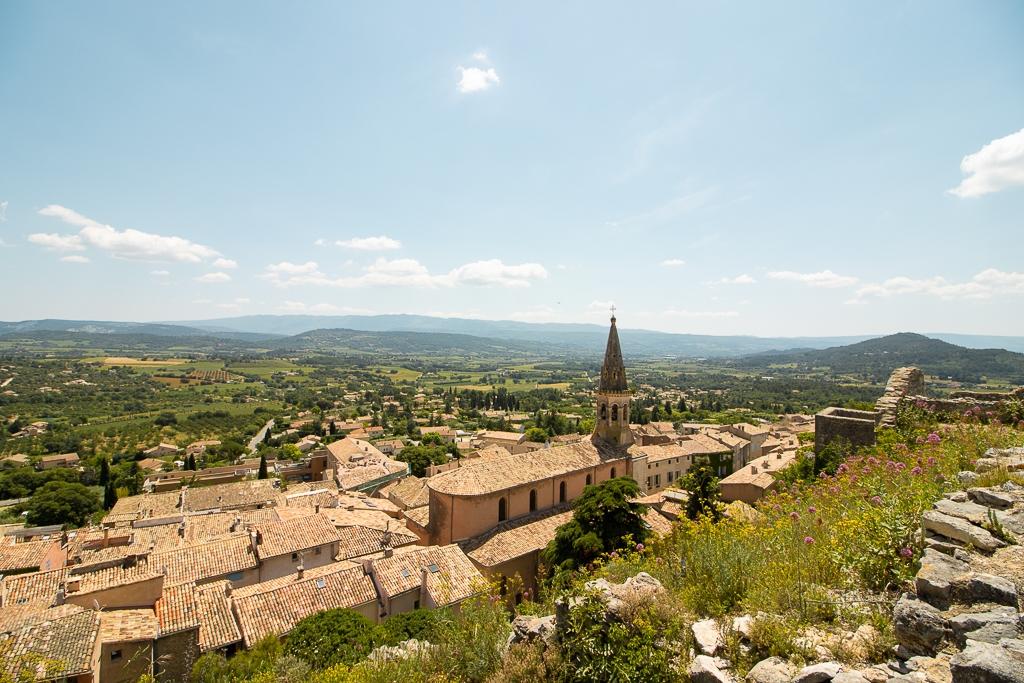 Vue depuis le village de Saint-Saturnin-Lès-Apt sur la Provence
