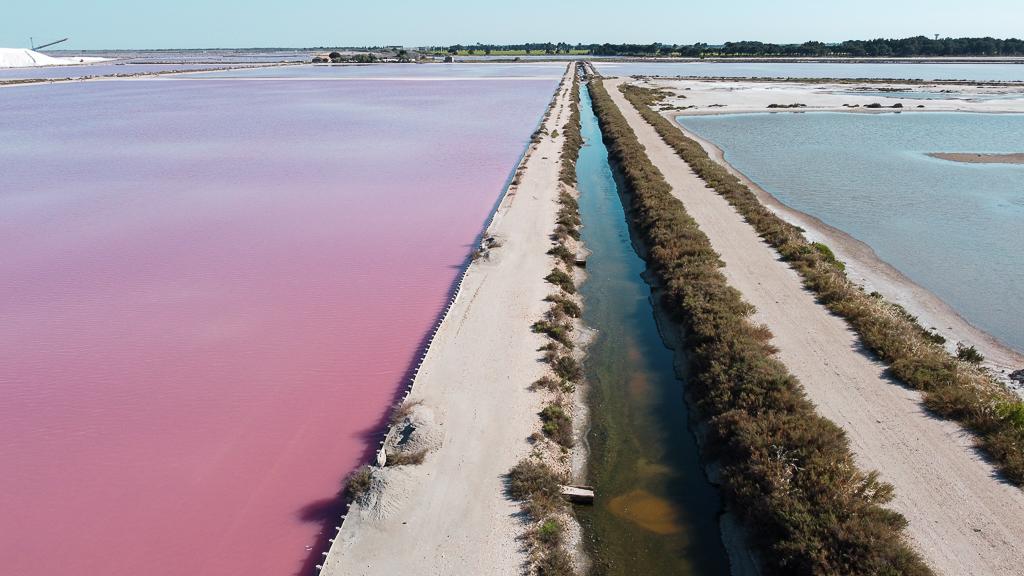 Les salins roses d'Aigues Mortes