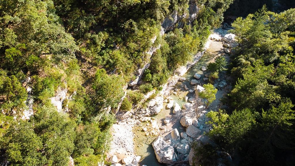 Les Gorges du Toulourenc vues d'en haut