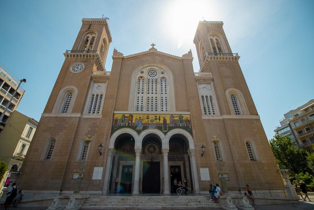 Visite d'Athènes : cathédrale d'Athènes