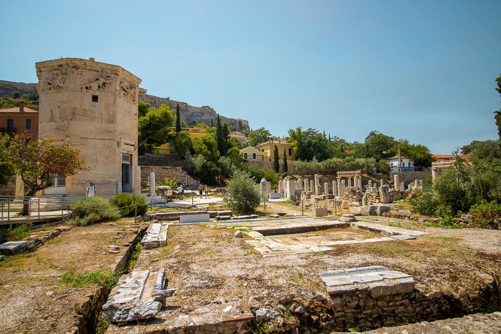 Visite d'Athènes : agora romaine