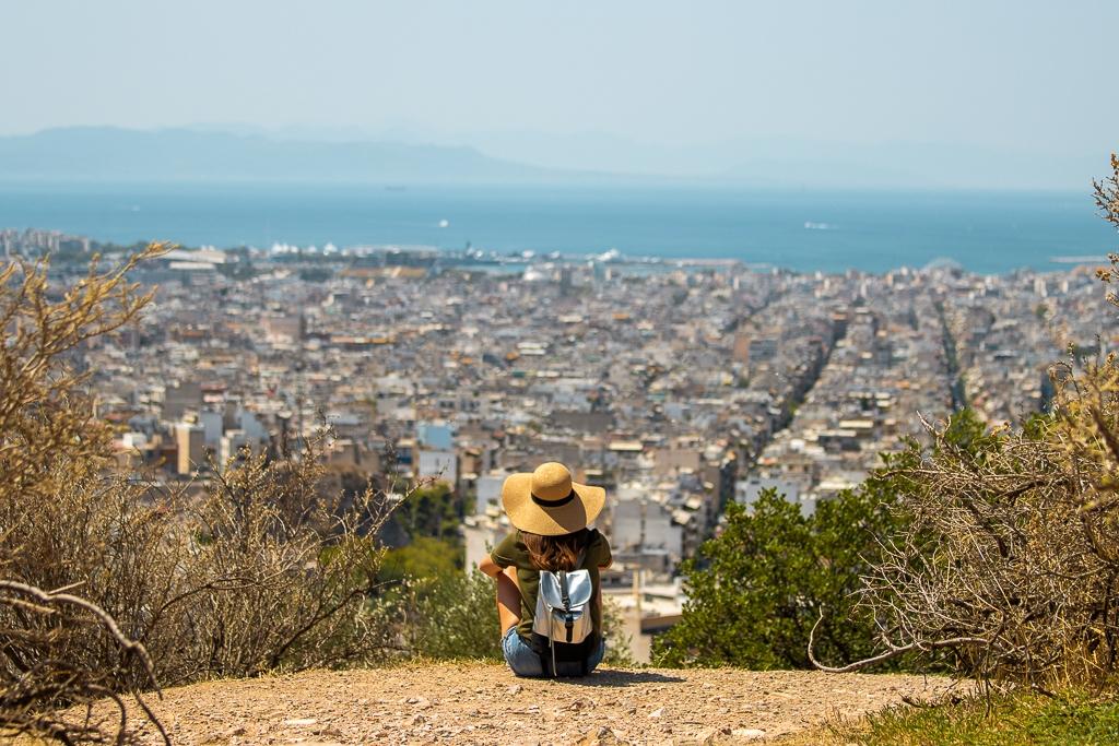 Vue sur Athènes depuis la Colline Filoppapos