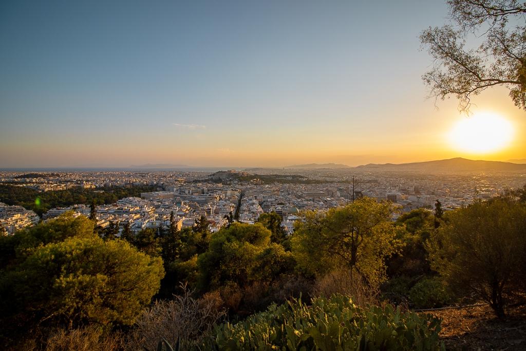 Visite Athènes : Colline Likabette