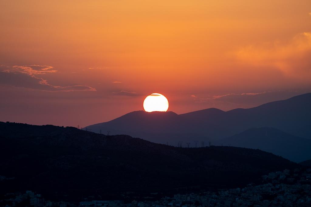 Coucher de soleil Athènes