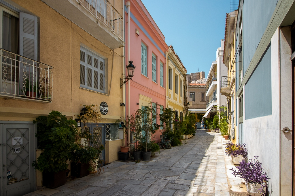 Visite d'Athènes : Plaka