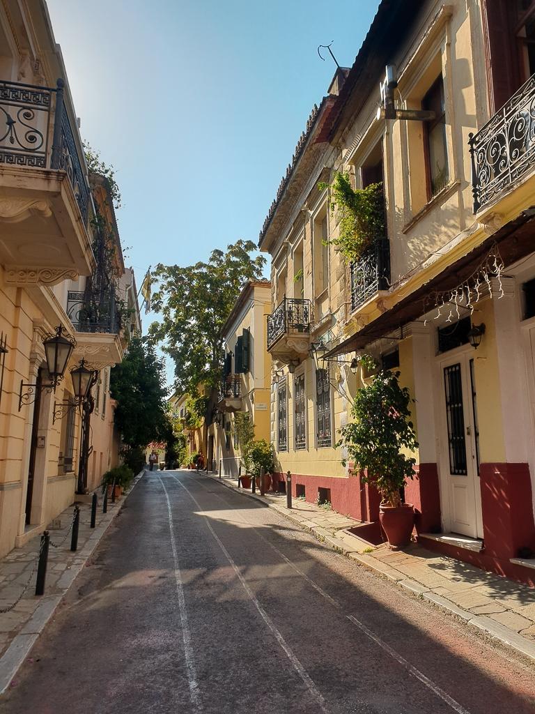 Visite d'Athènes : quartier de Plaka