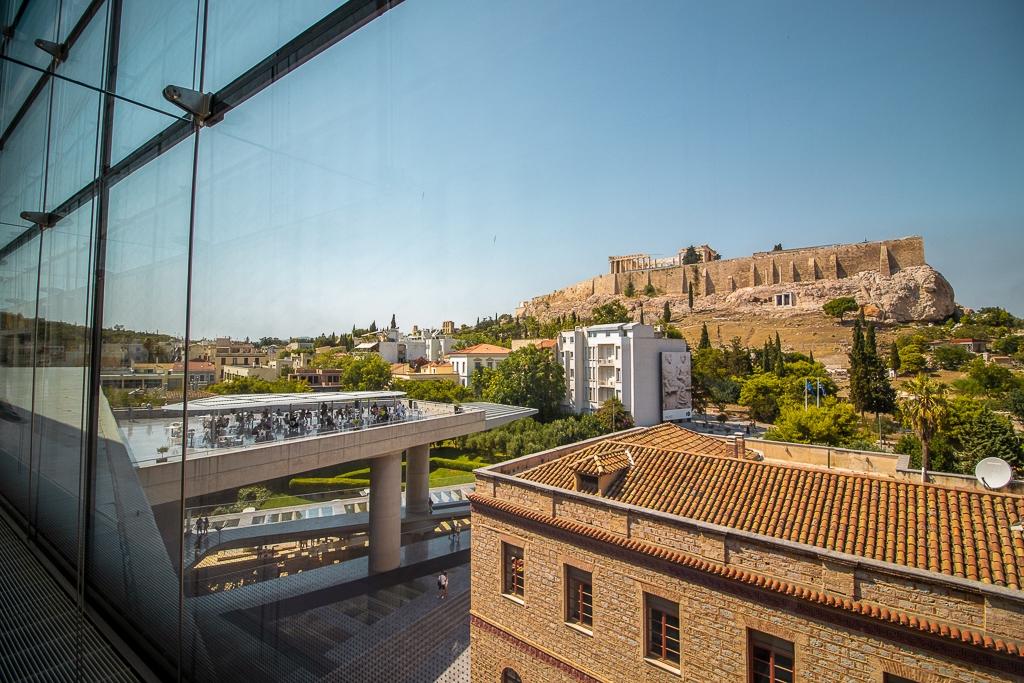 Visite d'Athènes : vue depuis le musée de l'Acropole