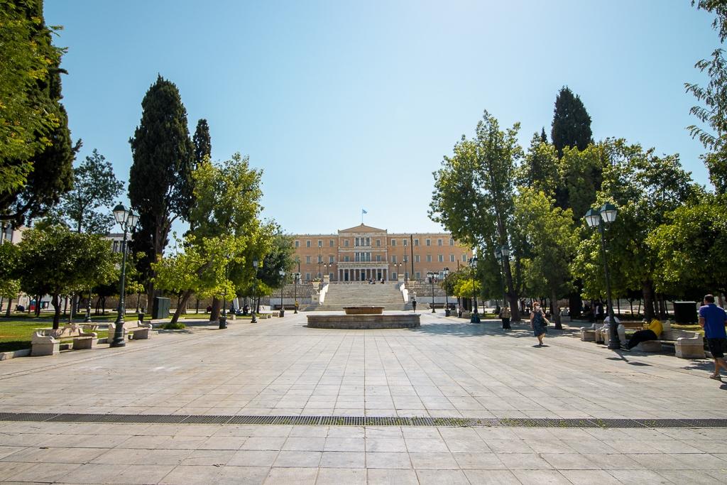 Visite d'Athènes : PLace Syndagma