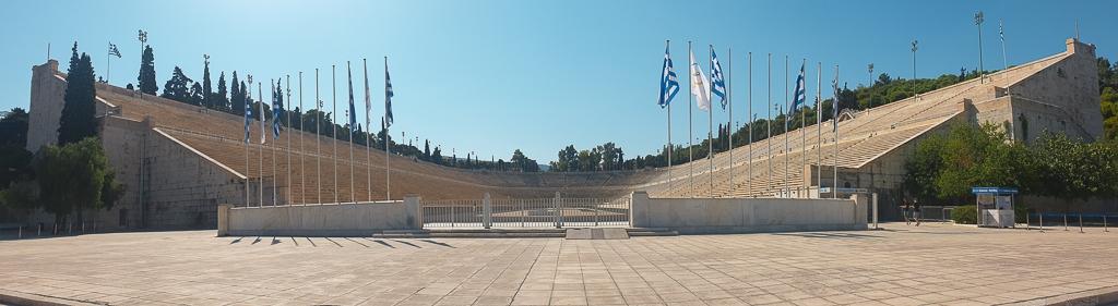 Visite d'Athènes : stade olympique