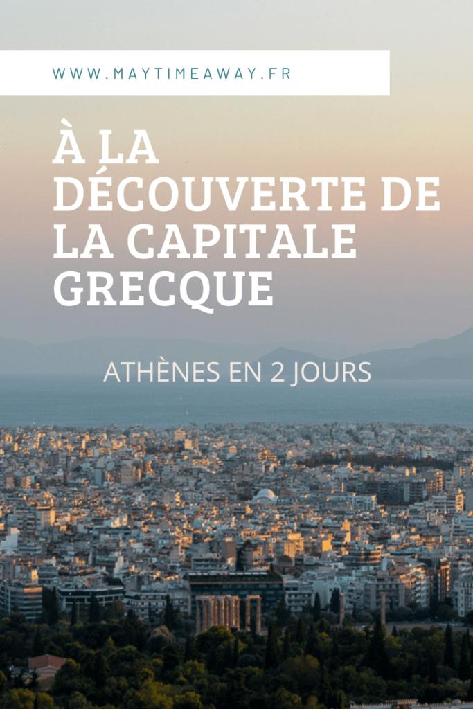 Visiter Athènes en 2 jours, en un week-end ! Départ pour la Grèce nous décidons de passer deux semaines à Athènes et dans les Cyclades. Première fois à Athènes, nous avons le week-end pour la découvrir, de l'Acropole au Parthénon, de la Colline Lycabette, Pnyx ou encore Filoppapos, le quartier de Monastiraki, celui de Plaka, de Psiri, le marché aux puces, temple d'Hadrien ... Je vous propose dans cet article de blog les incontournables à faire à Athènes, où manger et que voir en un week-end.