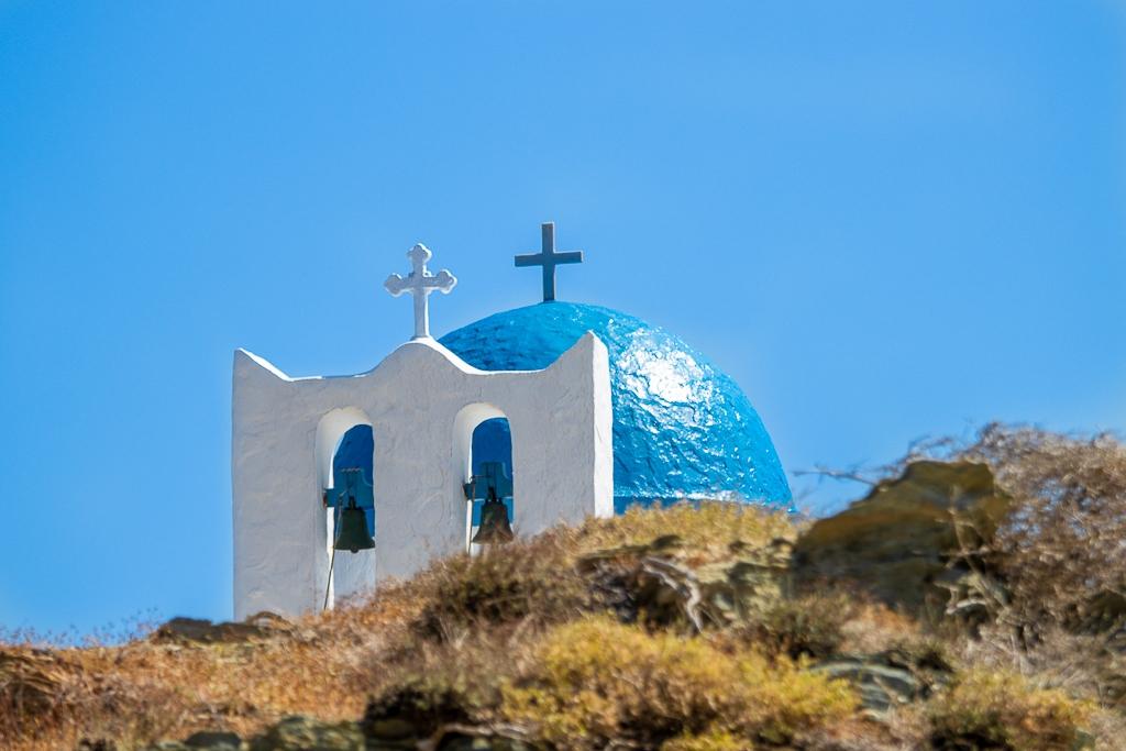 Dôme bleu à Sifnos, Grèce