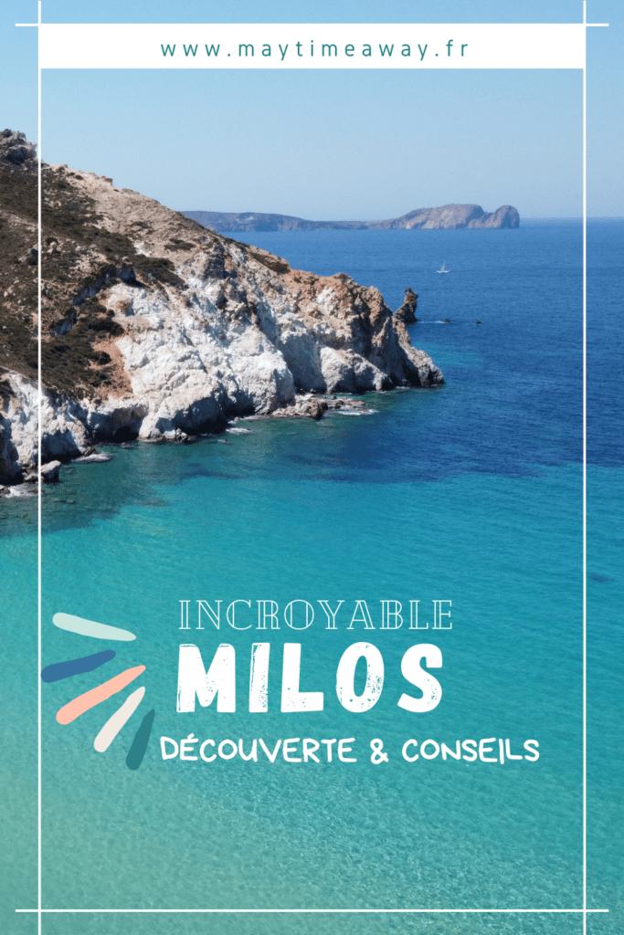 4ème île de notre séjour dans l'archipel des Cyclades en Grèce : MILOS ! Quelle belle découverte, ce fut un vrai coup de coeur. A Milos on ne trouve pas que la Vénus, mais des plages incroyables et épatantes, des eaux translucides et turquoises, des petits ports aux garages à bateaux colorés, des villages charmants et encore et toujours des couchers de soleil incroyables. Visiter Milos est un incontournable de votre séjour dans les Cyclades. #Milos  | Milos en Grèce | tour de bateau à Milos