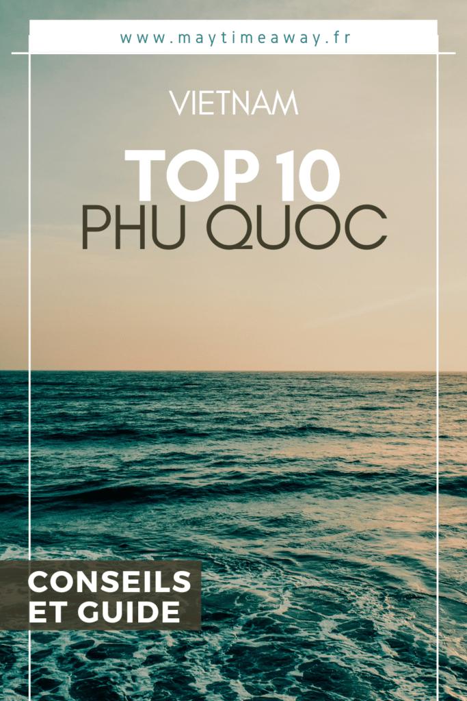 A l'Est du Vietnam, au niveau de la frontière avec le Cambodge, se trouve l'île de Phu Quoc ! Un petit paradis avec de belles plages de sable fin, d'hôtels et hébergements tous aussi beaux les uns que les autres, d'activités et de détente. Malheureusement un peu trop polluée comme le reste du Vietnam, l'île n'en demeure pas moins belle. Voici un top 10 des activités à faire à Phu Quoc, les incontournables à voir. Phu Quoc est une bonne destination si vous voulez des vacances relax et détente.