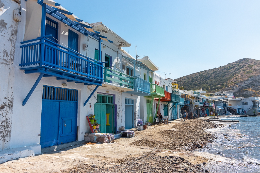 Maisons de pêcheur à Klima, île de Milos