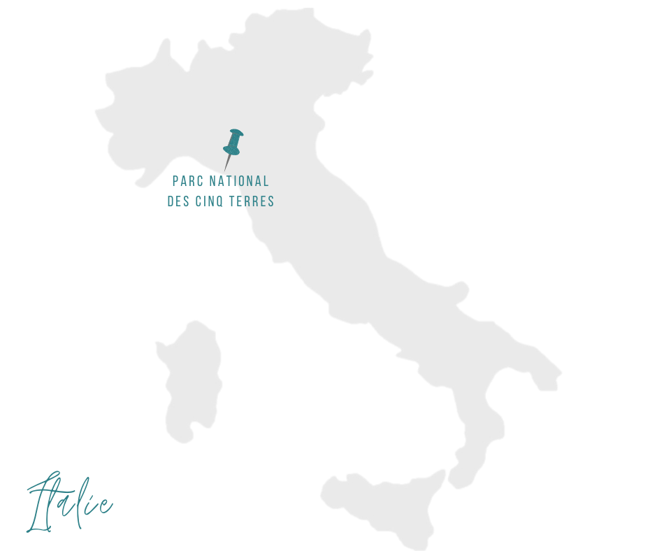 carte cinq terres Italie