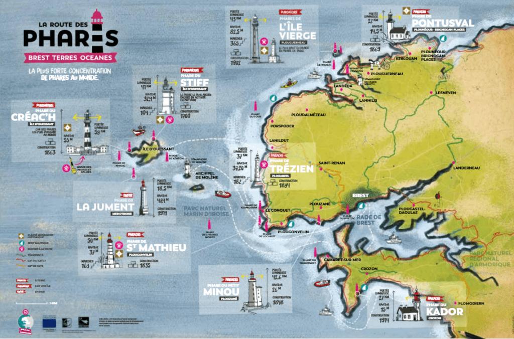 La route des Phares dans le Finistère - Bretagne